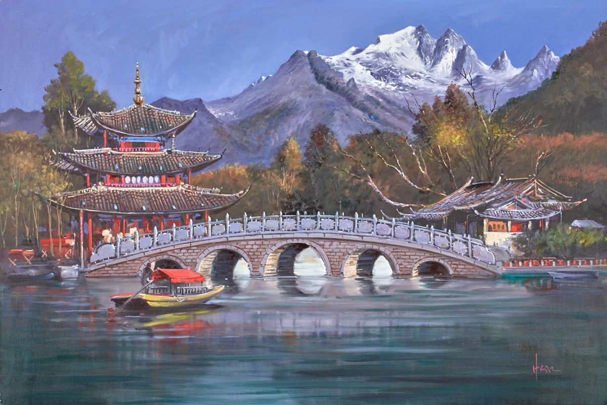 The Red Pagoda by henderson cisz -  sized 36x24 inches. Available from Whitewall Galleries